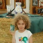csiszolt pohár lovas